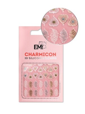 Charmicon 3D Silicone Stickers #107 Feathers and Hearts
