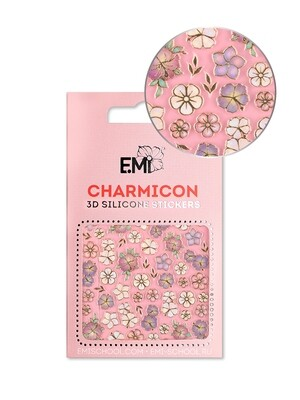 Charmicon 3D Silicone Stickers #134 Flowers MIX