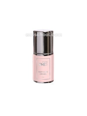 Soft Pink LED Gel in bottle, 15 ml.
