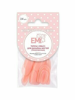 Pink Tips Oval, 24 pcs.