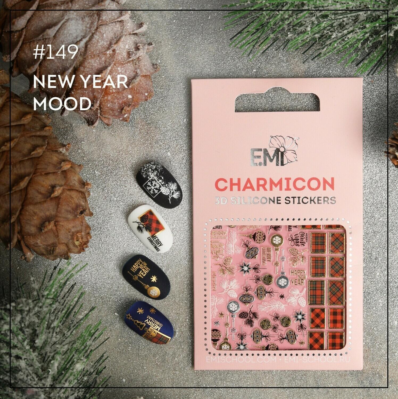 Silikonowe naklejki 3D Charmicon #149 New Year Mood