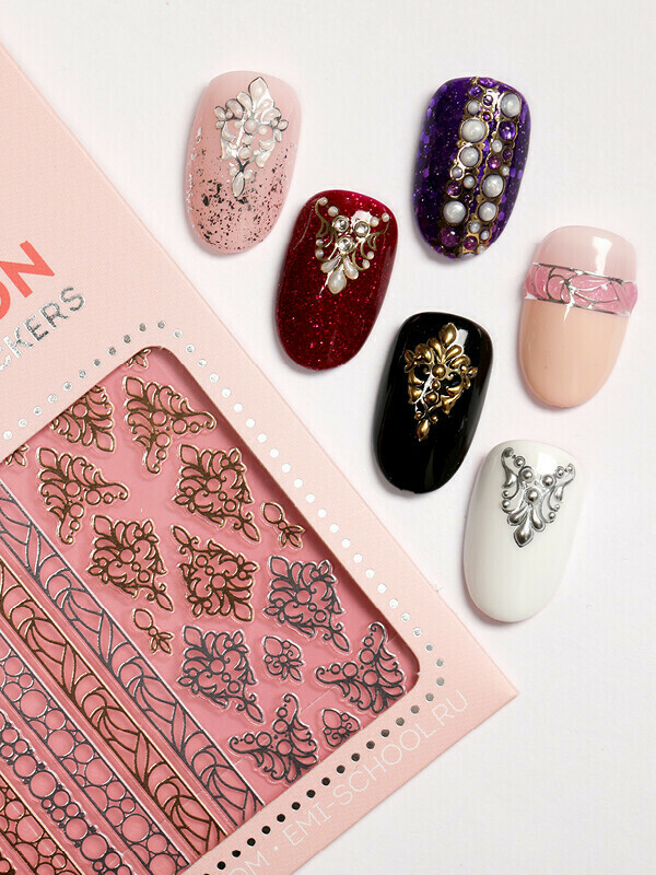 Charmicon 3D Silicone Stickers #153 Jewels
