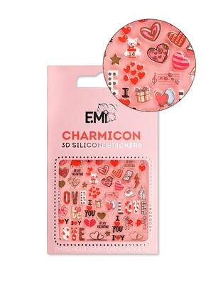 Charmicon 3D Silicone Stickers Love