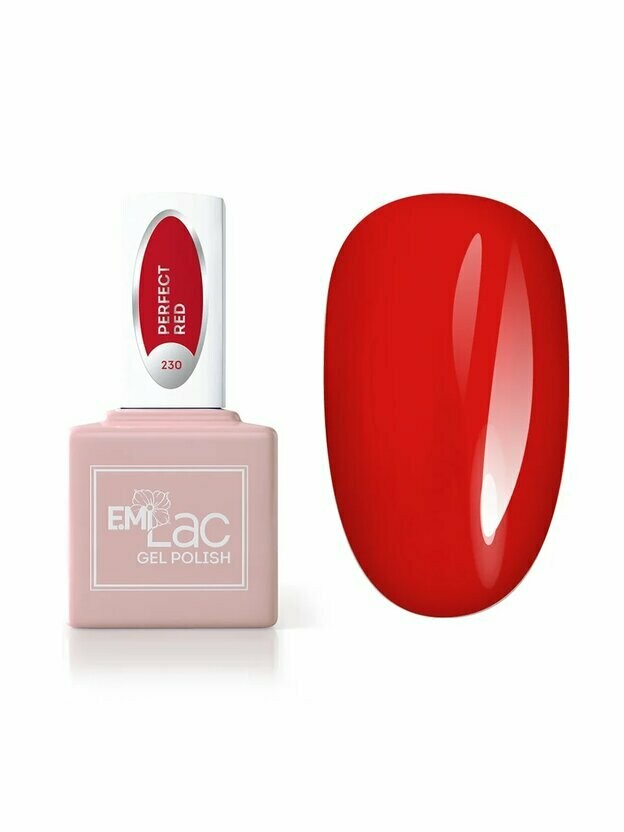 Lakier hybrydowy E.MiLac RM Perfect Red #230, 9 ml.