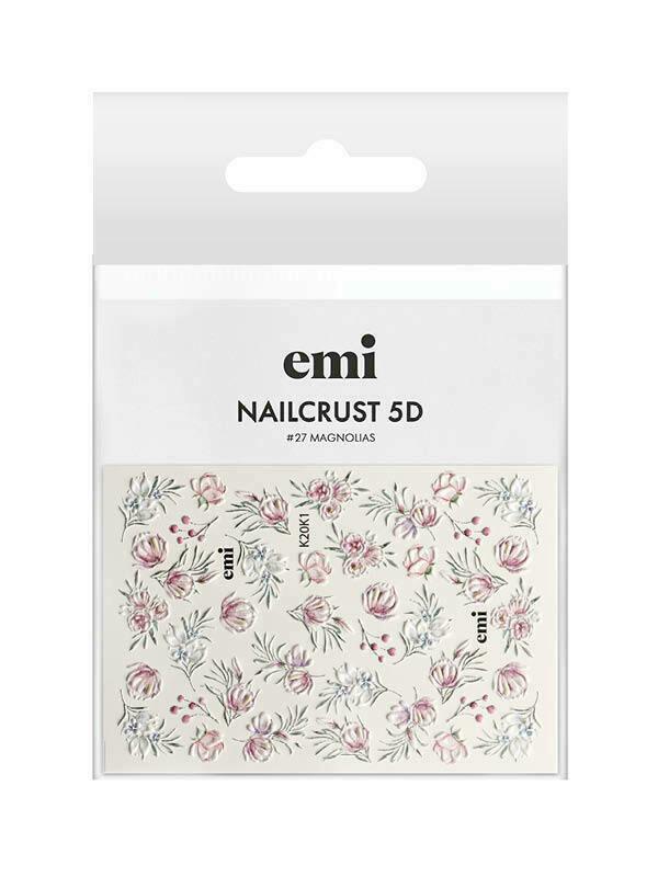 Naklejki wodne NAILCRUST 5D #27 Magnolias