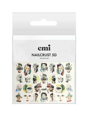 Naklejki wodne NAILCRUST 5D #30 Pop-Art