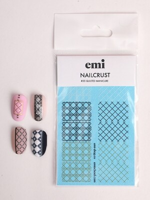 NAILCRUST Pattern Sliders #55 Quilted Manicure