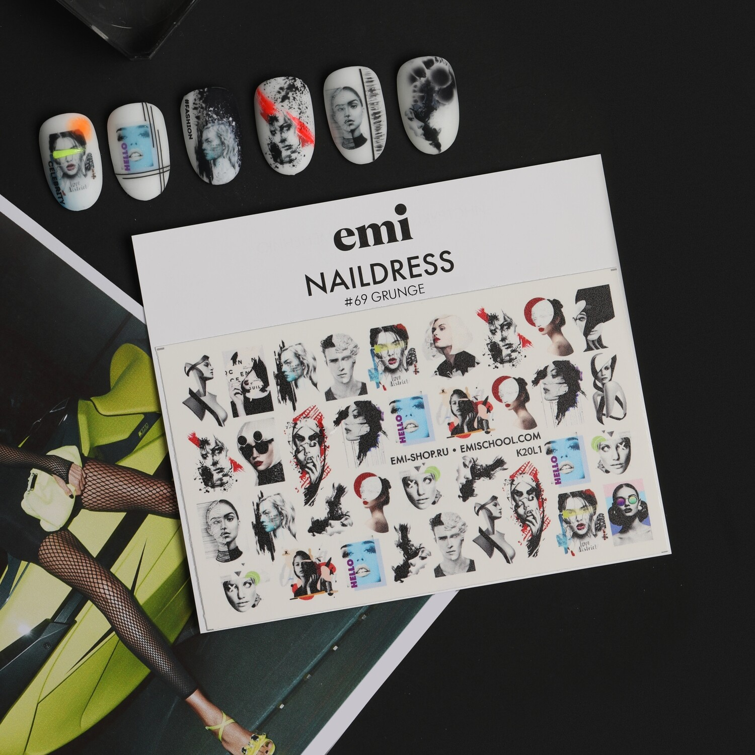 Naildress Slider Design #69 Grunge