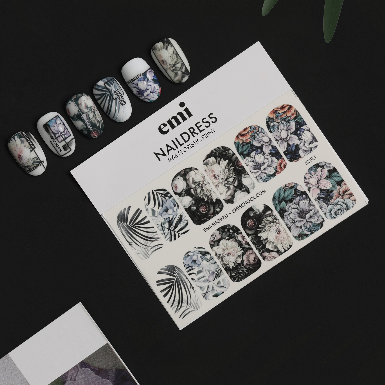 Naklejki wodne Naildress Slider Design #66 Floristic Print