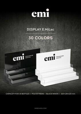 Półka na lakiery do paznokci E.MiLac 30 kolorów, czarny/biały