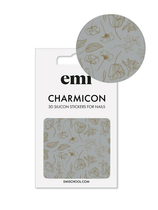 Silikonowe naklejki 3D Charmicon #178 Golden Flowers