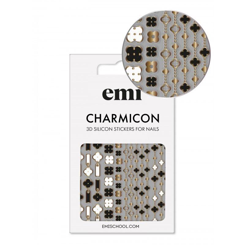 Naklejki silikonowe Charmicon 3D Silicone Stickers 185 Quatrefoil