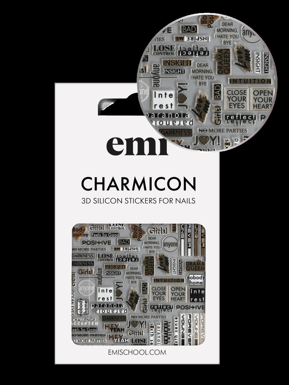 Naklejki silikonowe Charmicon 3D Silicone Stickers #196 Joy