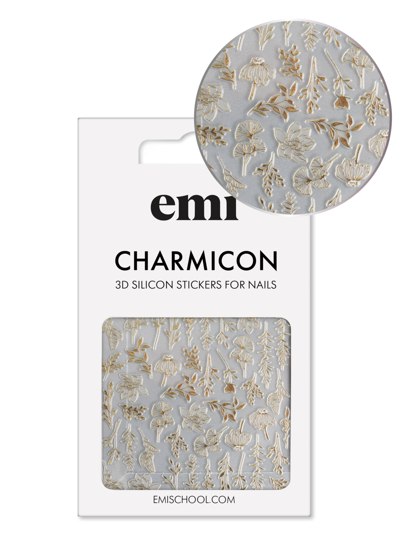 Naklejki silikonowe Charmicon 3D Silicone Stickers #190 Autumn Tenderness_Gold