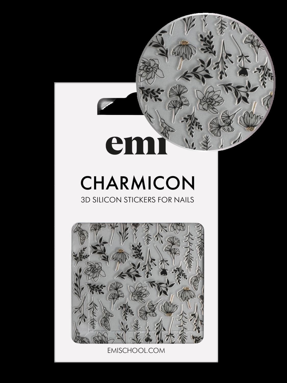 Naklejki silikonowe Charmicon 3D Silicone Stickers #191 Autumn Tenderness_Black