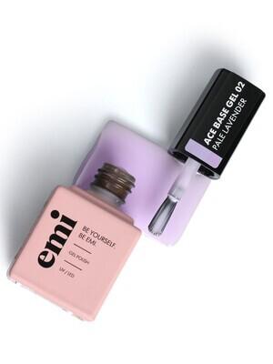 Baza hybrydowa E.MiLac Ace Base #02 Pale Lavender, 9 ml.