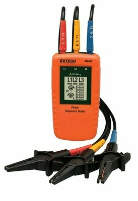Extech 480400 - 3 phase Rotation Tester / Phase Sequence Tester