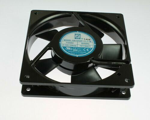Orion Fan Part # : OA125AP-11-1TB Voltage: 120 VAC Size : 120mm x 120mm x 25mm