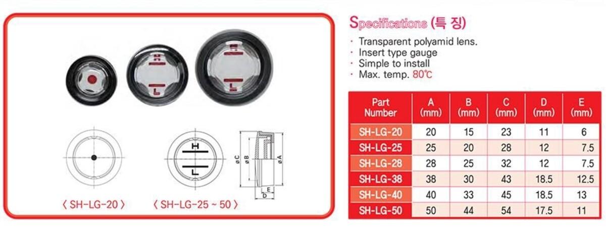 SH-LG-40 - 40mm Push-Fit Plastic Fluid Sight Glass