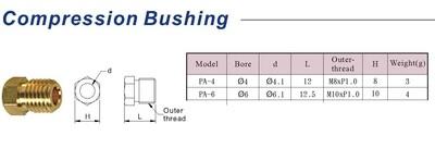 6mm Compression Bushing - PA-6