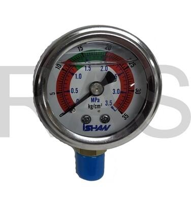 Ishan-Pressure-Gauge-327610-Stem-Mount