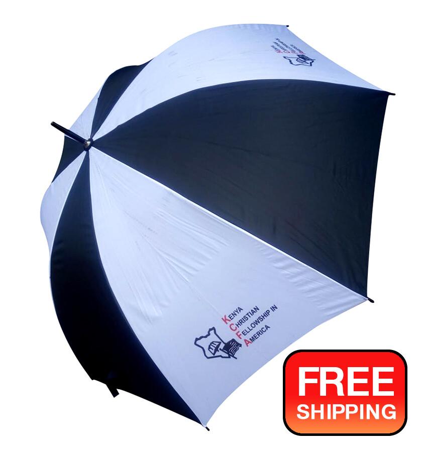 King's Collection folding Rain Umbrella, Large Size - Imprint: