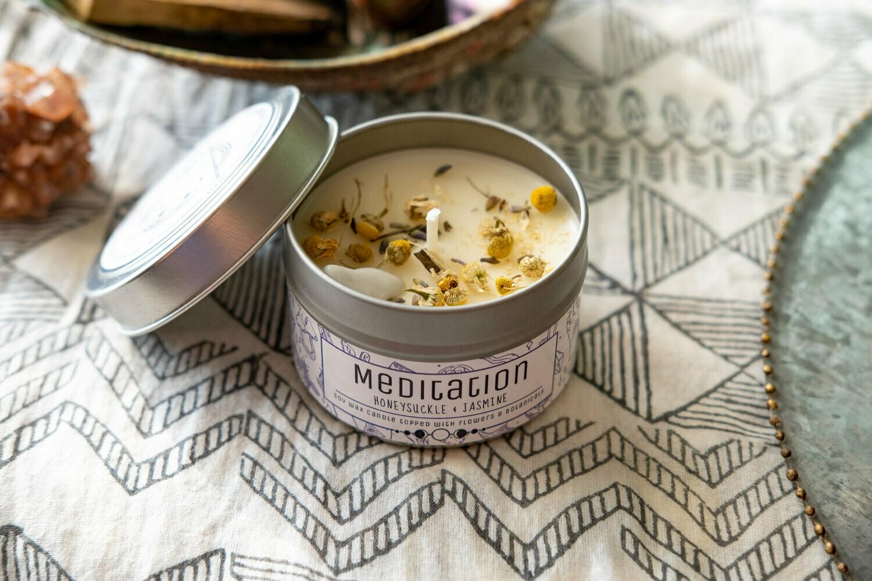 Meditation Tin Candle