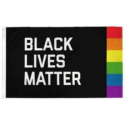 Black Lives Matter + Pride Flag