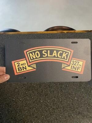 No Slack license plate