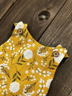Hobo Cross Top & Bloomer- Mustard Floral