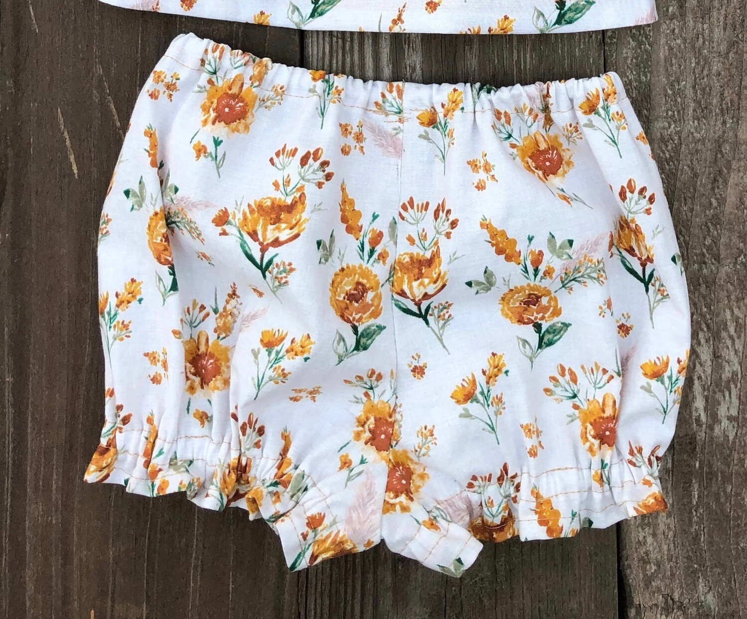 Baby Bloomers - Rust Floral