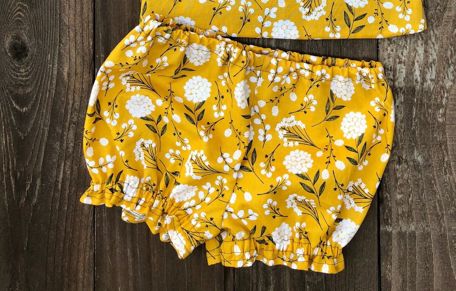 Baby Bloomers - Mustard Floral