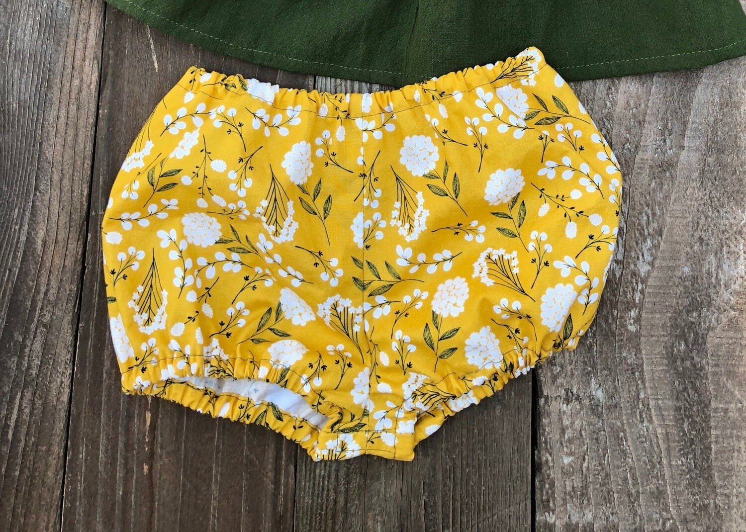 Toddler Bloomers- Mustard Floral