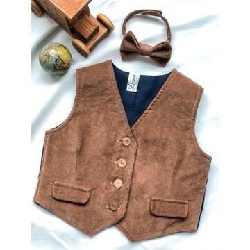 Teddy Bear Brown-  Corduroy Vest