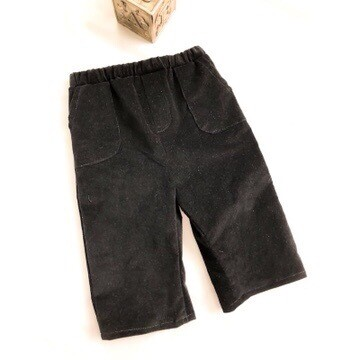 Black Pinwale Corduroy Pants