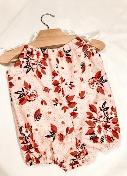 Shoulder Tie Romper - Homebody Floral