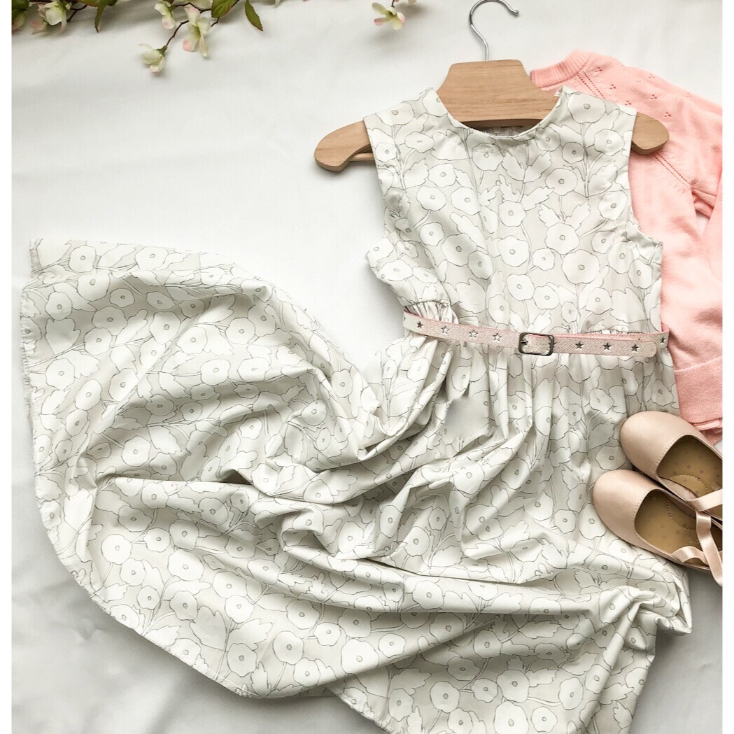 Abby Dress in Soft Dove White