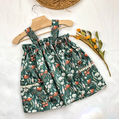 Toddler Apron Top - Feather N Floral