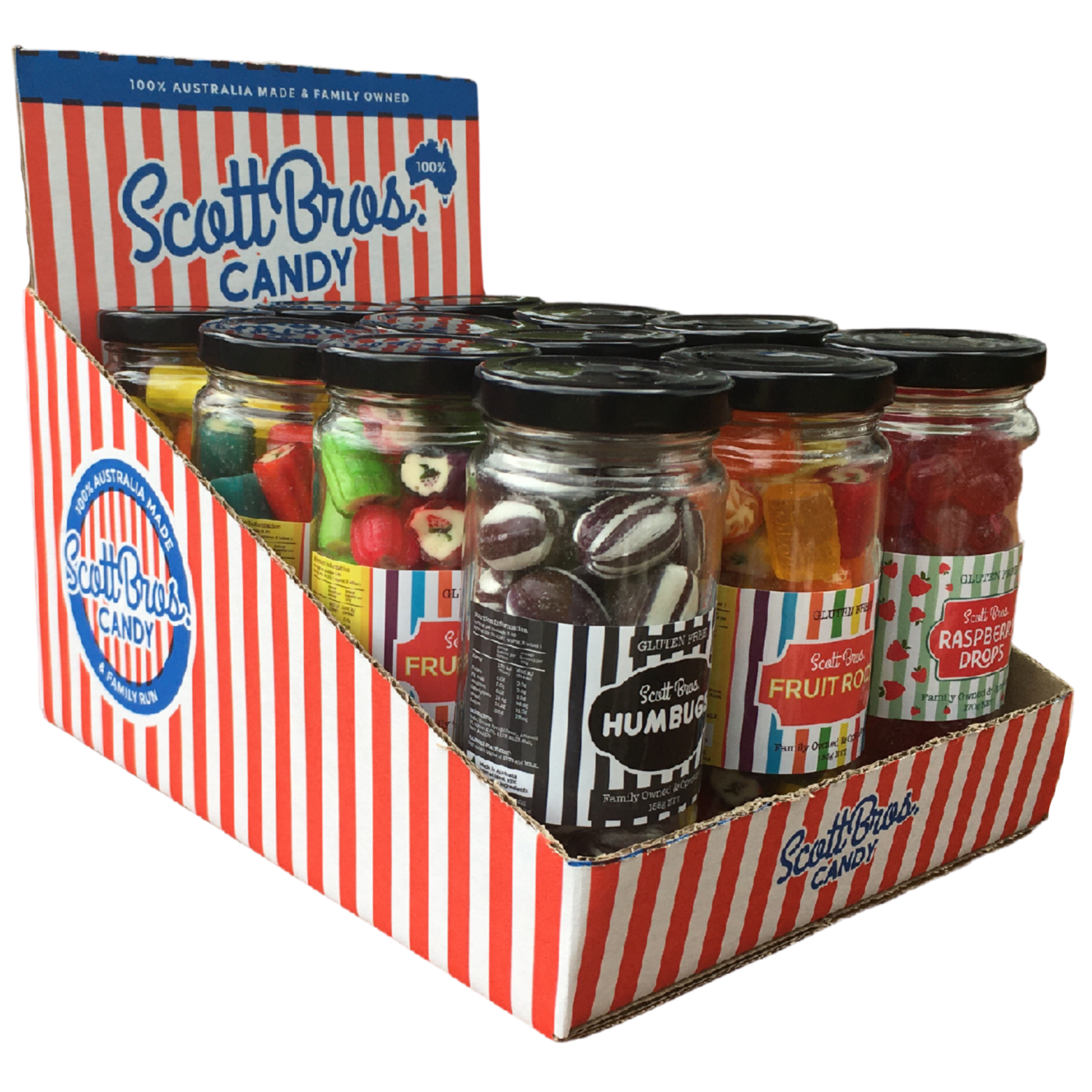 Striped Counter Display Box - Wholesale Only & always in stock