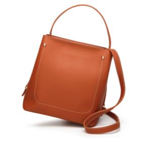 Womens Everyday Stylish Vegan Leather Bucket Bag