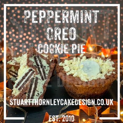 Peppermint Oreo Cookie Pie