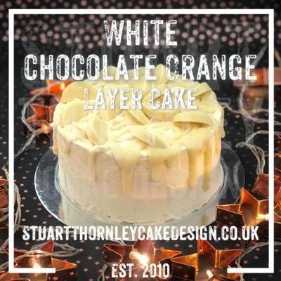 White Chocolate Orange Layer Cake