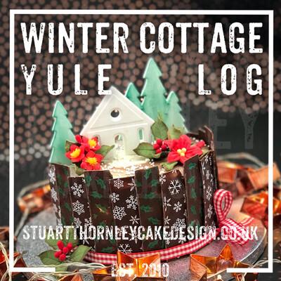 Winter Cottage Yule Log