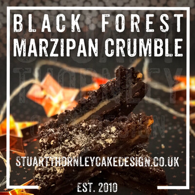 Black Forest Marzipan Crumble
