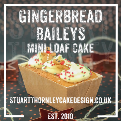 Gingerbread Baileys Mini Loaf Cake