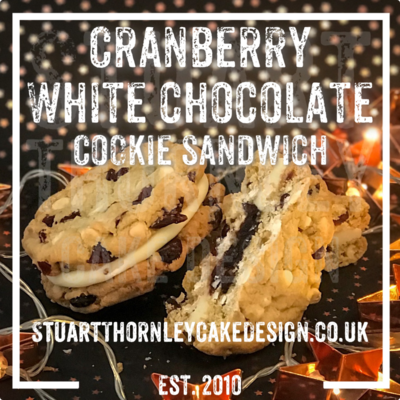Cranberry White Chocolate Cookie Sandwich