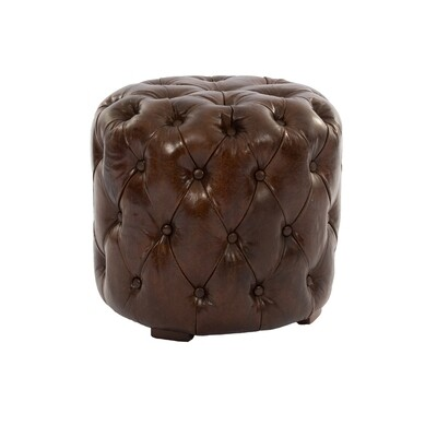 Archie Leather Stool