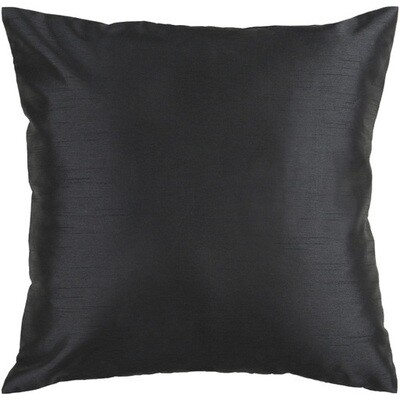 Black Satin Pillow