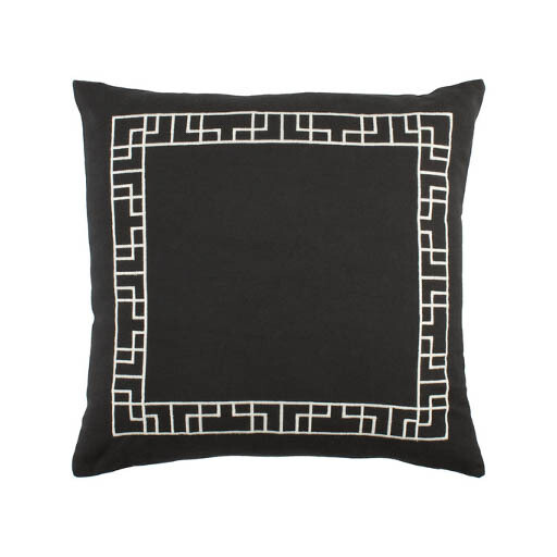 Black Border Print Pillow