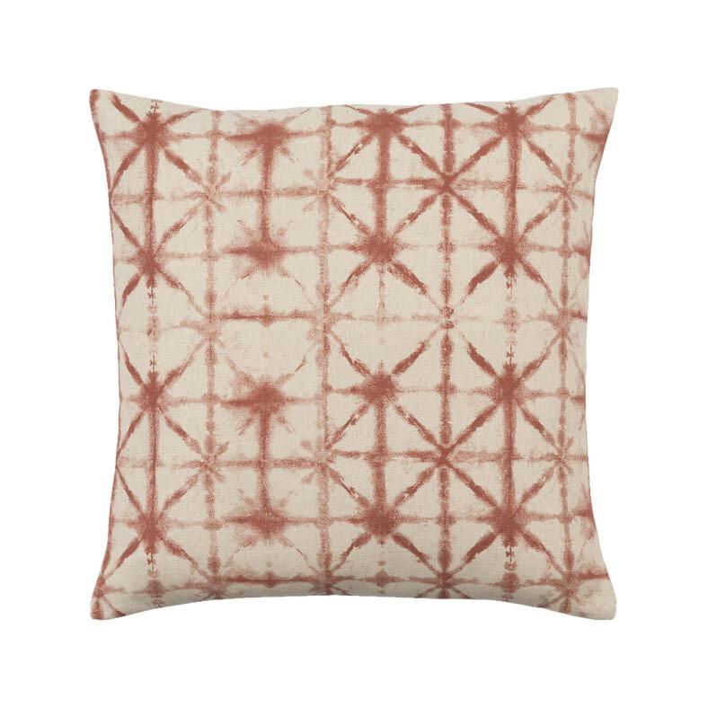 Burnt Orange Print Pillow